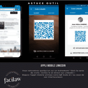 Infographie application mobile Linkedin QR Code