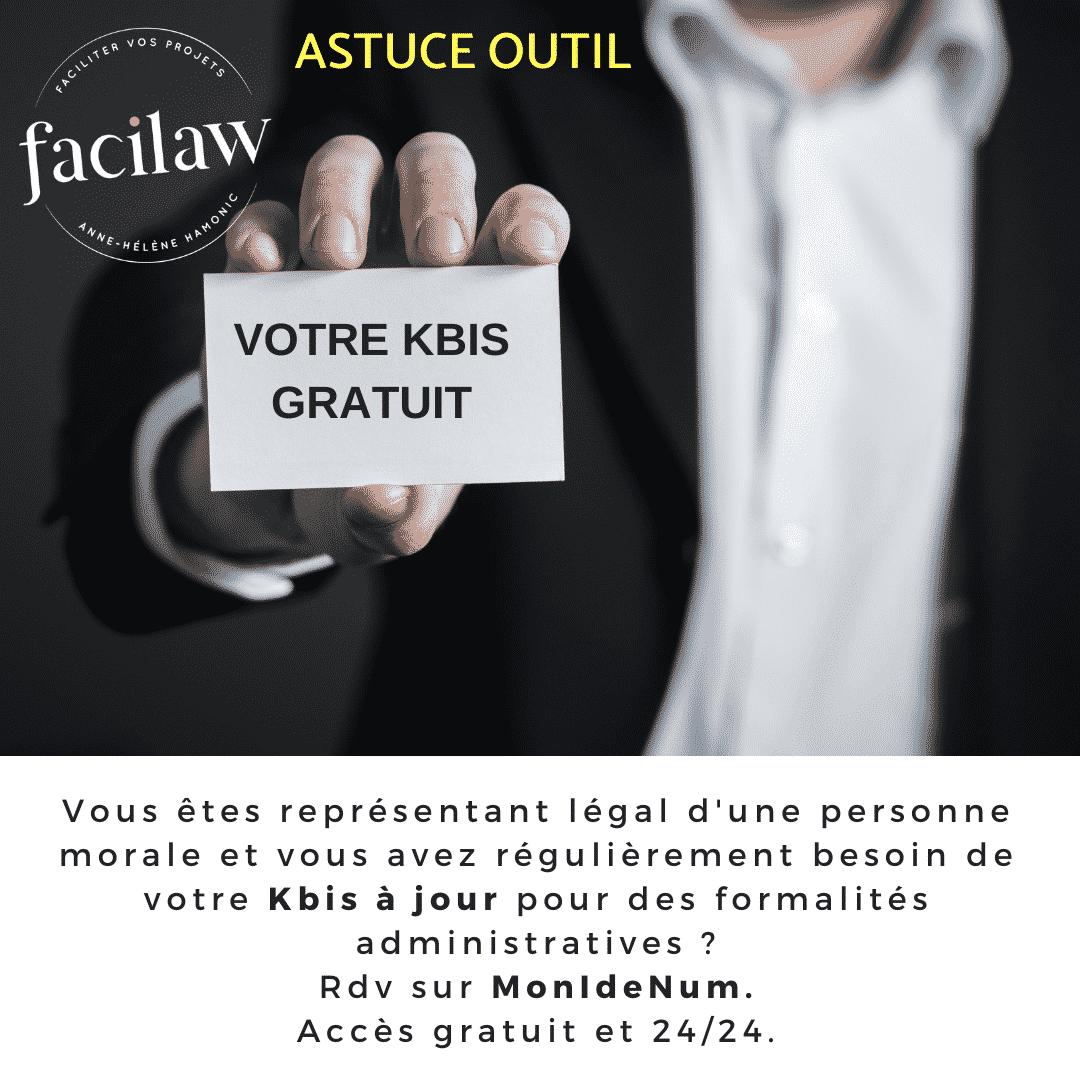 Astuce outil : votre Kbis gratuit