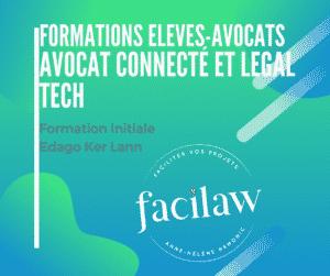 Formation élèves avocats Edago - avocat connecté et legal tech