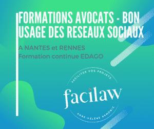 Formation avocats - faire bon usage des réseaux sociaux- EDAGO Anne-Hélène HAMONIC Facilaw