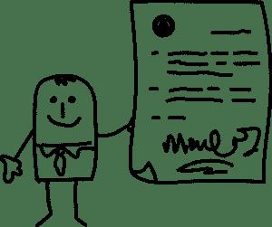 illustration signature contrat