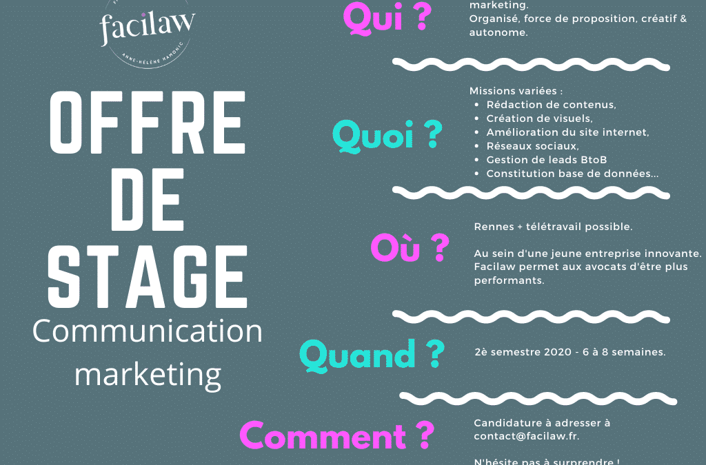 Offre de stage communication marketing