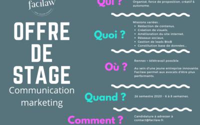 Offre de stage communication marketing