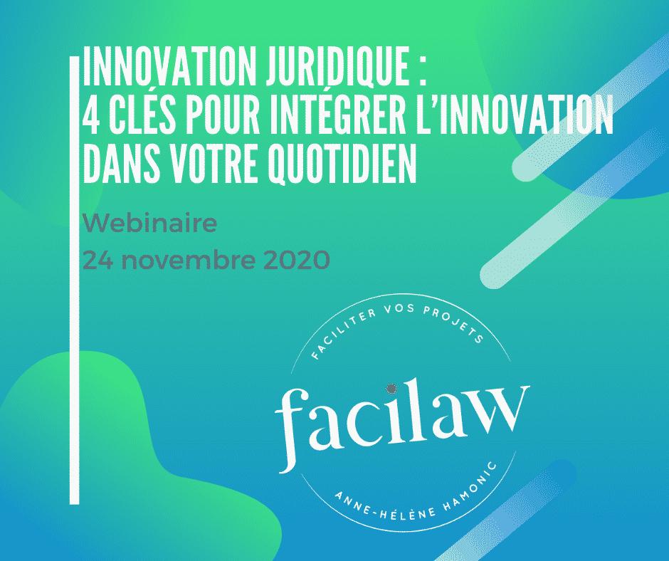 innovation juridique : 4 clés pour intégrer l'innovation juridique dans votre quotidien