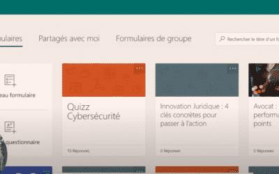 Tuto vidéo – Office 365 :  créer un formulaire depuis Forms ou directement depuis un email Outlook
