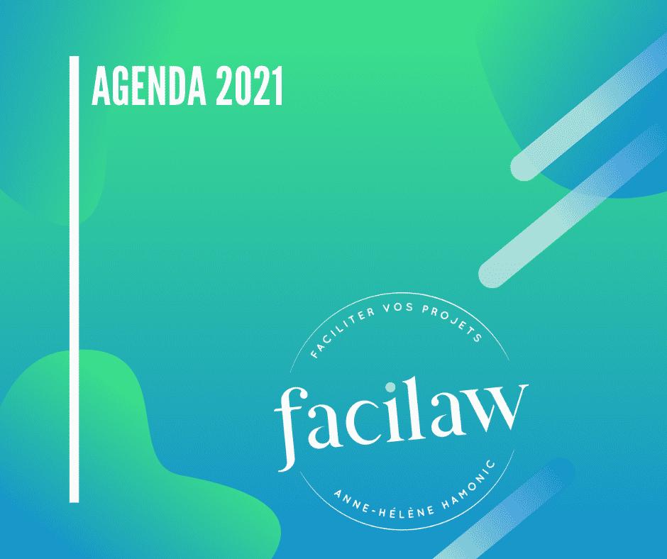 agenda 2021 Anne-Hélène Hamonic