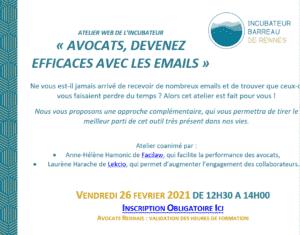 comment devenir efficace avec les emails, par Anne-Hélène Hamonic de Facilaw