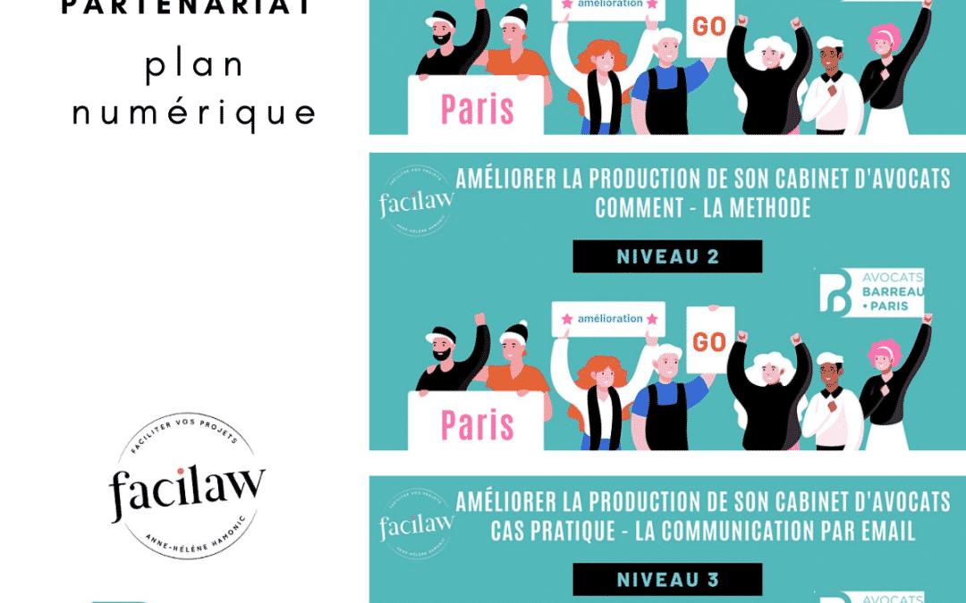Webinaires en partenariat avec l'ordre des avocats de Paris – Avocat : améliorer sa performance en production