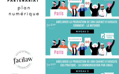 Webinaires en partenariat avec l'ordre des avocats de Paris