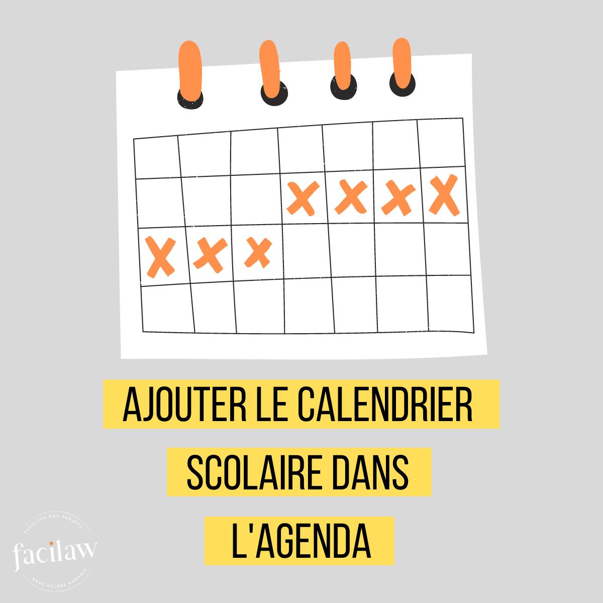 avocats calendrier scolaire,agenda